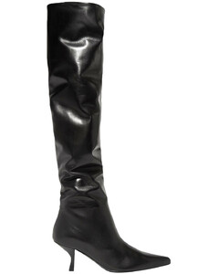 Woman Bourgeoise Leather Knee Boots