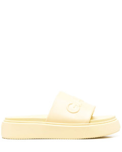 Leather Boots In Brown & Bone