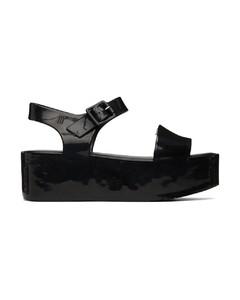Kolbie black leather combat boots