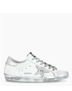 White/silver Superstar sneakers