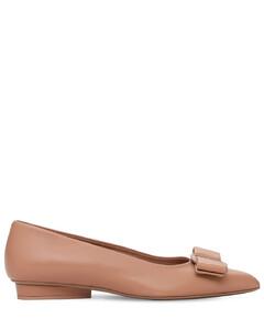 Clarita蝴蝶结皮革麻底坡跟凉鞋