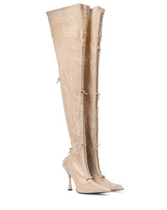Lingerie Knife over-the-knee boots