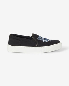 K-SKATE Tiger canvas slip-on trainers