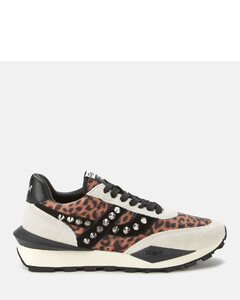 Women's Spider Studs Sustainable Running Style Trainers - Off White/Beige/Black
