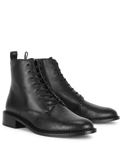 Cabria black leather ankle boots