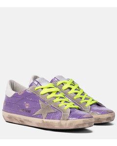 Superstar鳄鱼纹皮革运动鞋