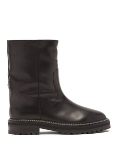 Yari logo-plaque shearling-lined leather boots