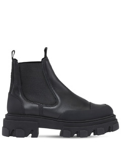 50mm Leather Combat Boots
