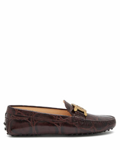 Kate gommino-sole crocodile-effect leather loafers