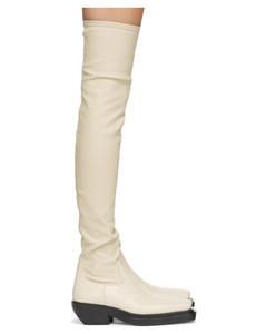 灰白色BV Lean高筒靴