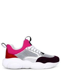 Tabi-toe leather ballerina shoes