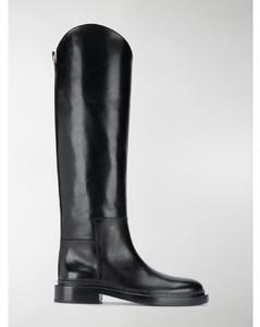 knee-high low-heel boots