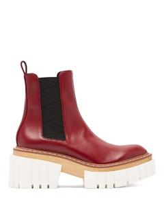 Emilie faux-leather platform Chelsea boots