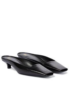 皮革穆勒鞋