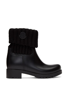 黑色Ginette针织踝靴