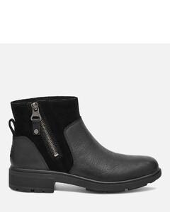Women's Harrison Zip Waterproof Leather Ankle Boots - Black