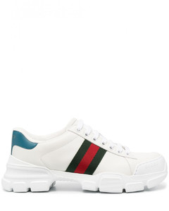 Ace Web Leather Sneakers