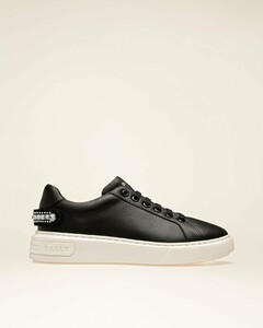 Leather Sneakers In Black