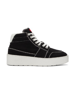 黑色Ami De Coeur高帮运动鞋