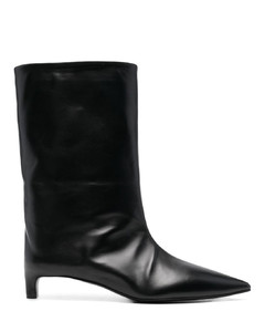 Hudep floral-print leather and fabric trainers