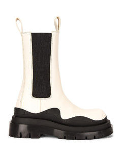 The Tire Boots in White