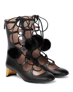 皮革绑带式及踝靴