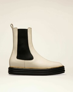 Leather Boots In Bone