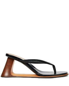 Woman Leather And Rubber Sandals