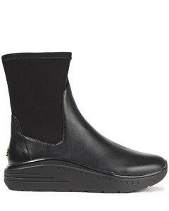 Woman Evonna Paneled Neoprene And Leather Ankle Boots