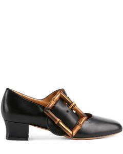 bamboo buckle 35mm pumps