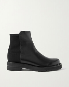 5050 Lift Leather And Neoprene Ankle Boots