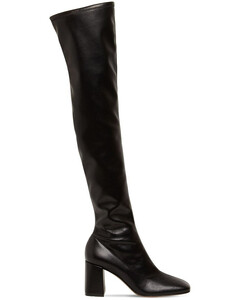 70mm Stretch Faux Leather Tall Boots