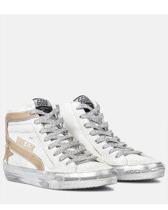 Slide金属感皮革运动鞋