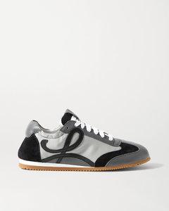 Ballet Runner软壳面料绒面革皮革运动鞋