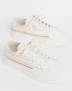 衍缝条纹运动鞋