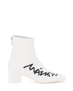 LOGO PRINT ANKLE BOOTS