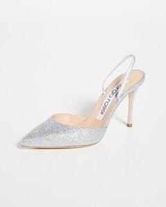 90mm Godiva Bridal闪光色亮片穆勒鞋