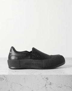 皮革厚底套穿款运动鞋
