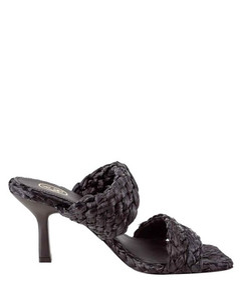 Leather Intrecciato Ballerina Flats