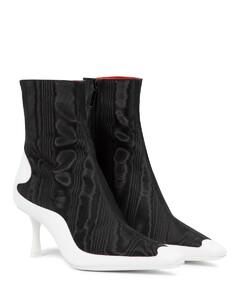 Mytheresa发售 —x Marine Serre云纹绸及踝靴
