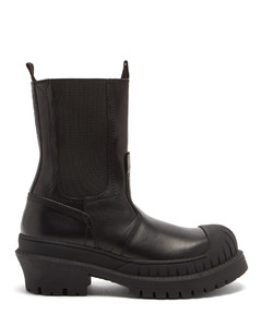 Bryant leather and rubber boots