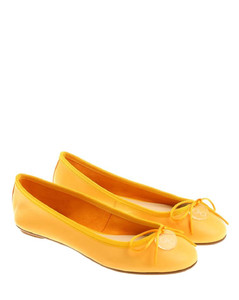 Yellow ballerinas with bow