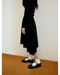 Ballet maryjane ankle boots Glossy black