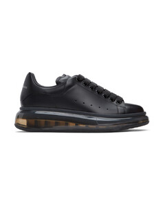黑色Clear Sole阔型运动鞋