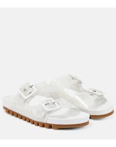 howling knee boots shiny dark brown croco