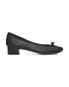 黑色Camille低跟芭蕾鞋