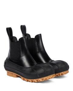 人造皮革与橡胶切尔西靴