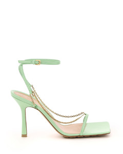 STRETCH SANDALS WITH CHAIN
