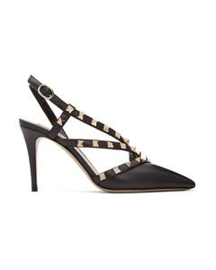 黑色Valentino Garavani Rockstud高跟鞋