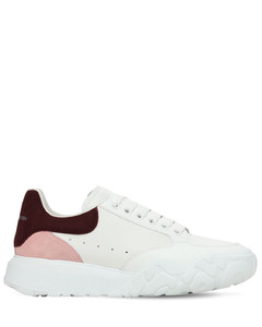 45mm Court Leather & Suede Sneakers